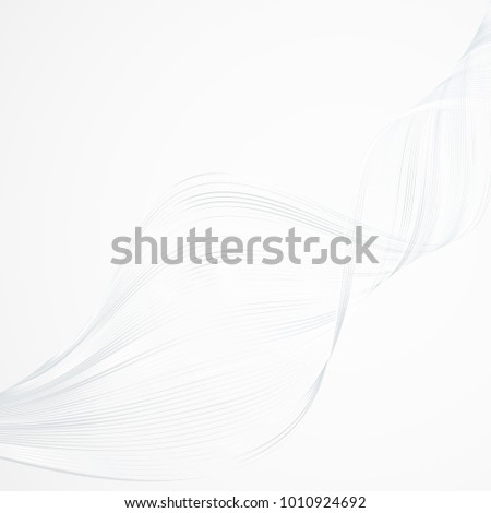 Abstract bright wavy lines on a white light background Futuristic technology illustration design The pattern of the wave line Abstract modern background for cards templates web business Vector graphic