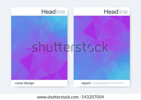 Business brochure design template. Vector flyer layout  abstract colorful polygonal background  modern stylish design triangle for magazine  leaflet  cover  poster.