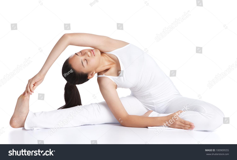 杂志人物素材 瑜伽