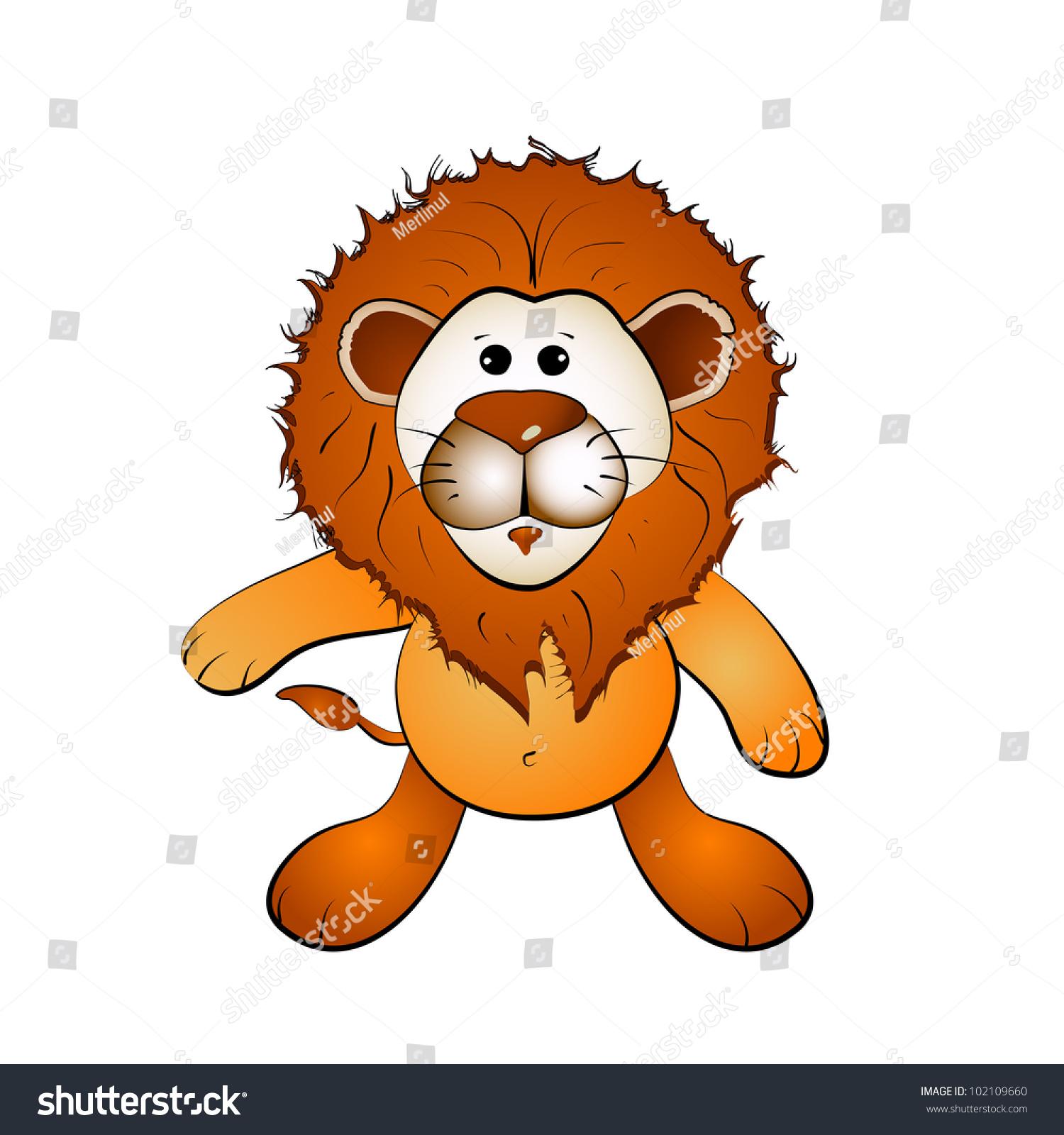 卡通狮子-动物/野生生物