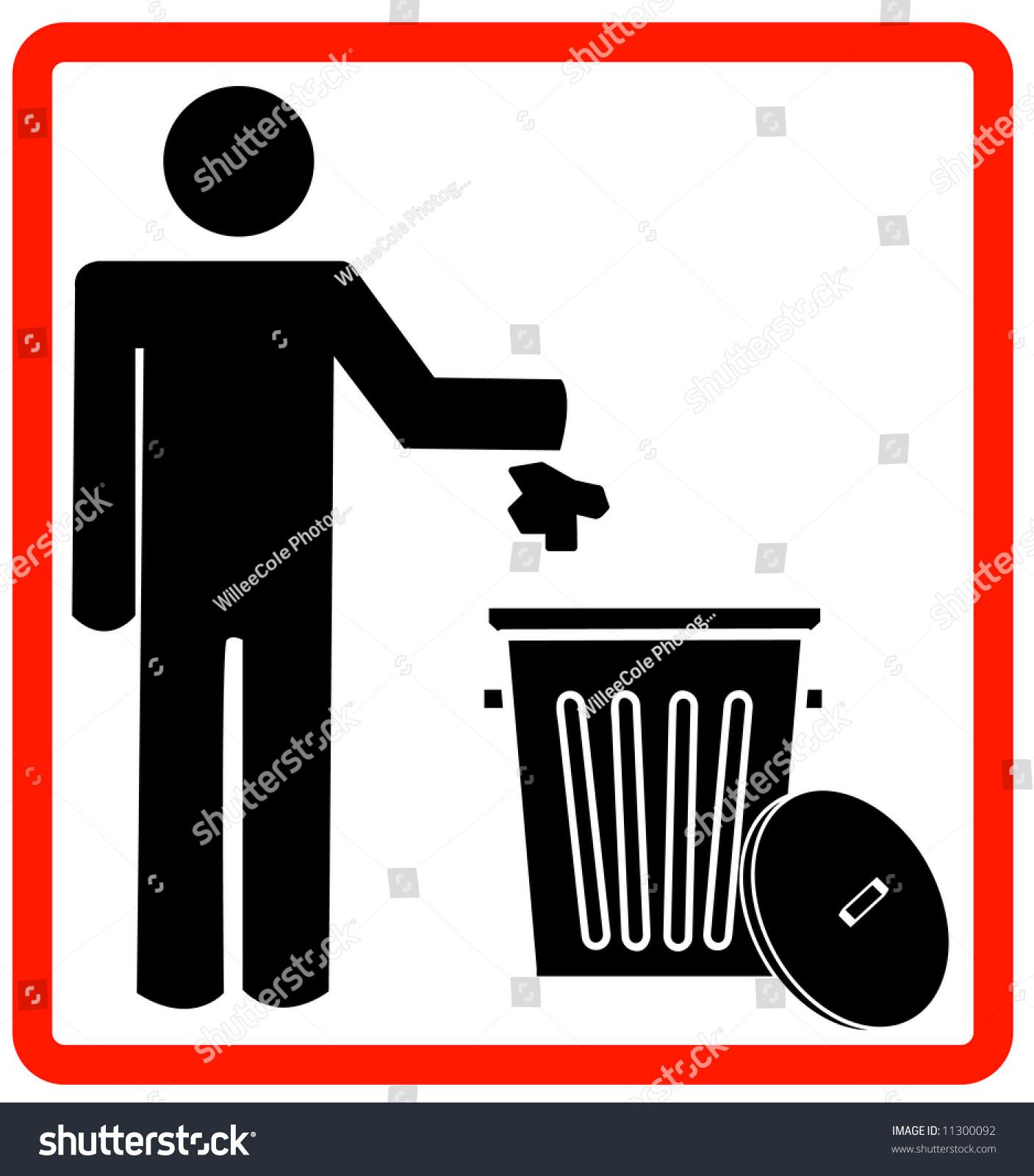 图的人扔垃圾进垃圾桶,不乱扔垃圾-插图/剪贴图,符号