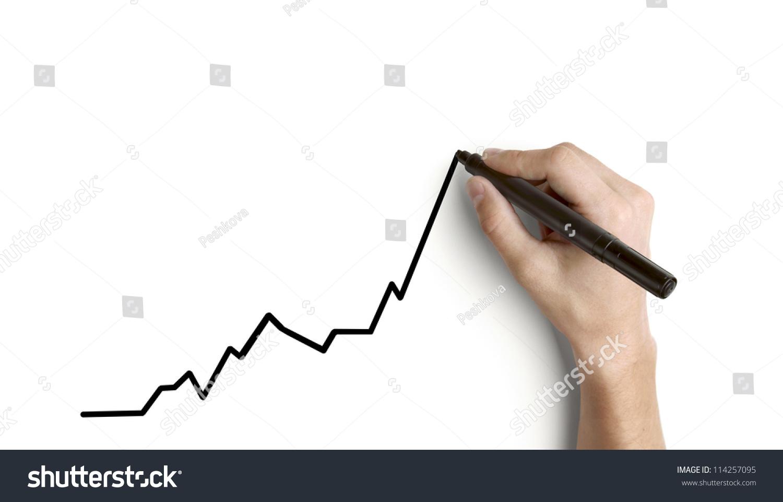增长的手绘图-商业/金融