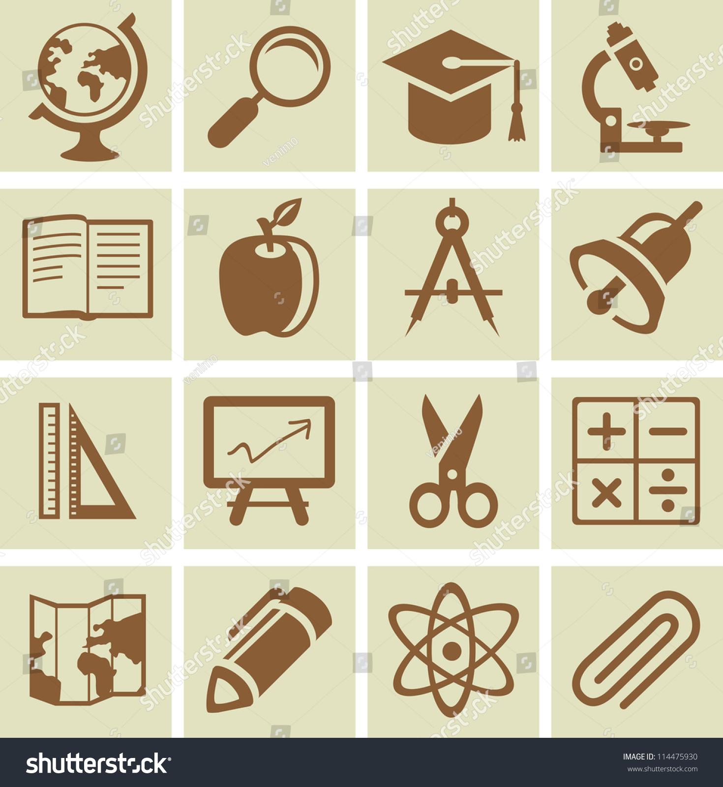 矢量设计元素为学校和大学,图标的集合-教育,符号/-()