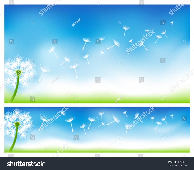 蒲公英的横幅-背景/素材,自然-海洛创意(hellorf)--.图片