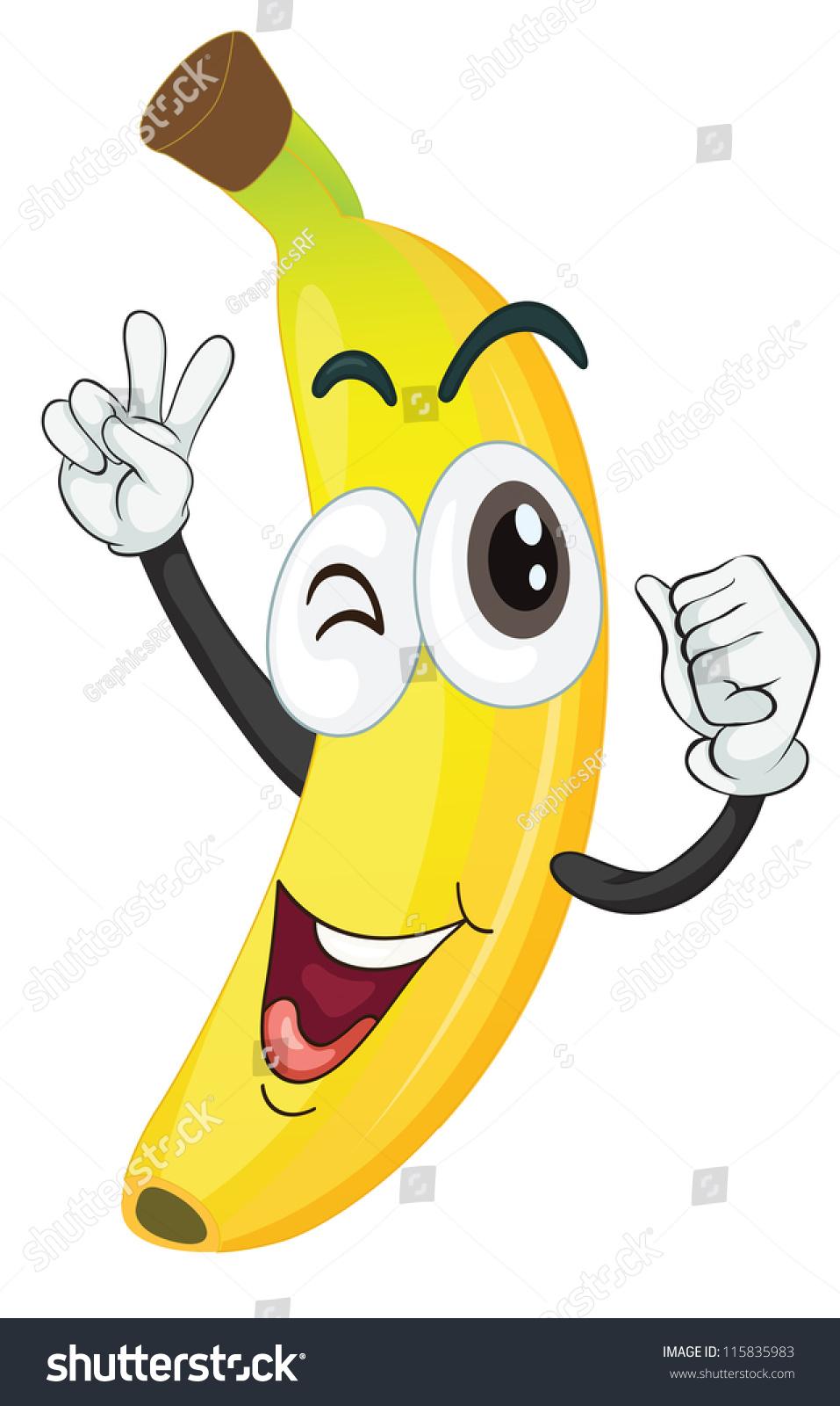 可爱卡通香蕉壁纸