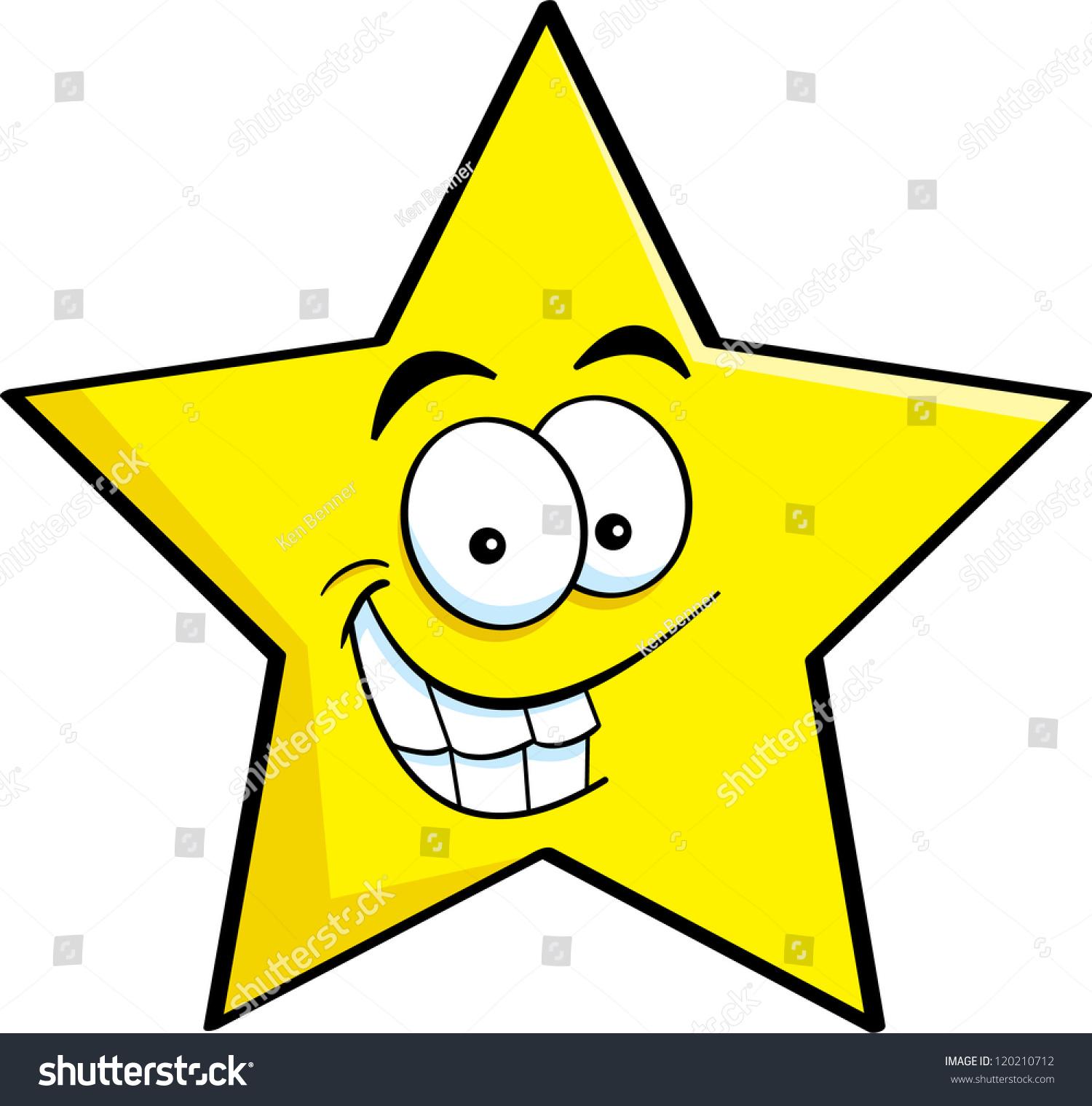 微笑之星的卡通插图.-物体,其它-海洛创意(hellorf)-.