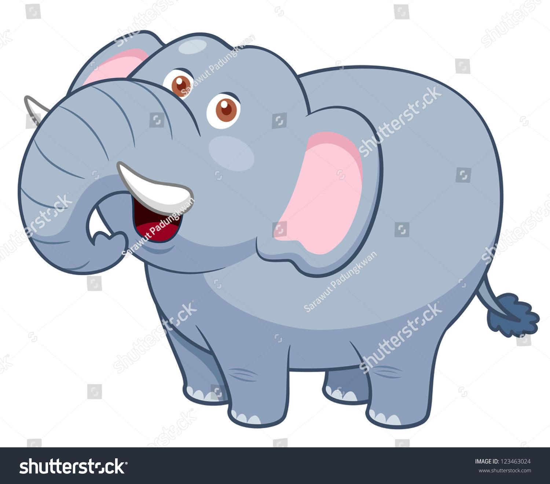 卡通插图的大象-动物/野生生物,自然-海洛创意()-中国