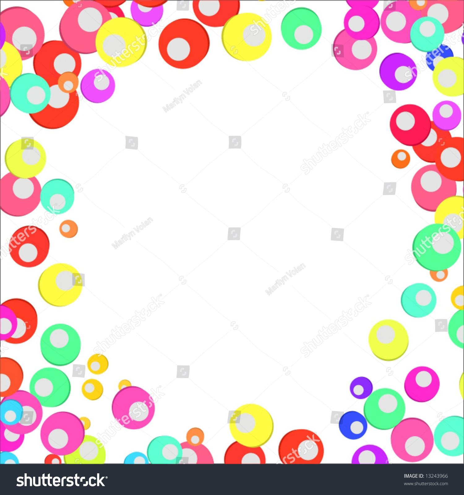 矢量彩色圈边界-背景/素材