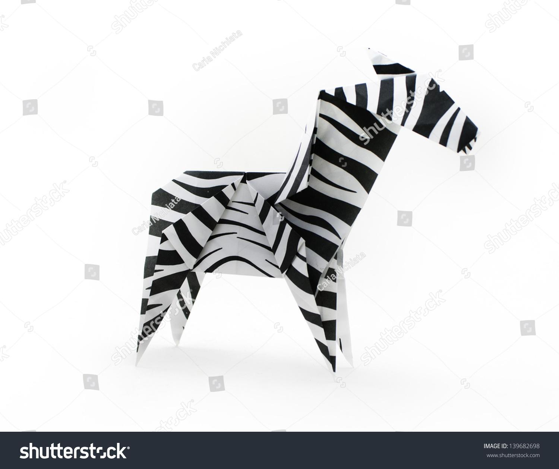 折纸纸斑马-动物/野生生物,艺术-海洛创意(hellorf)-.