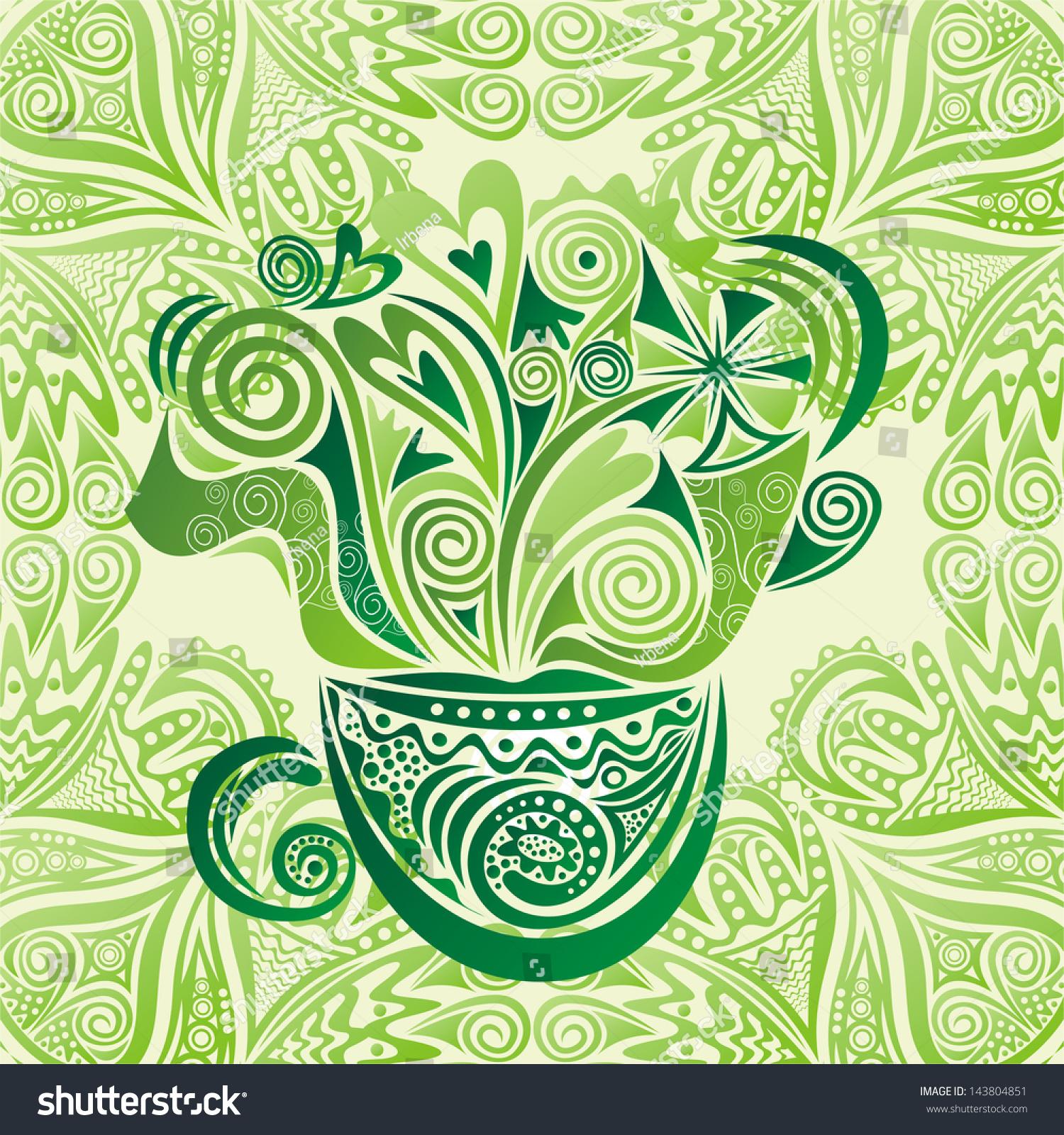 绿茶矢量图-背景/素材