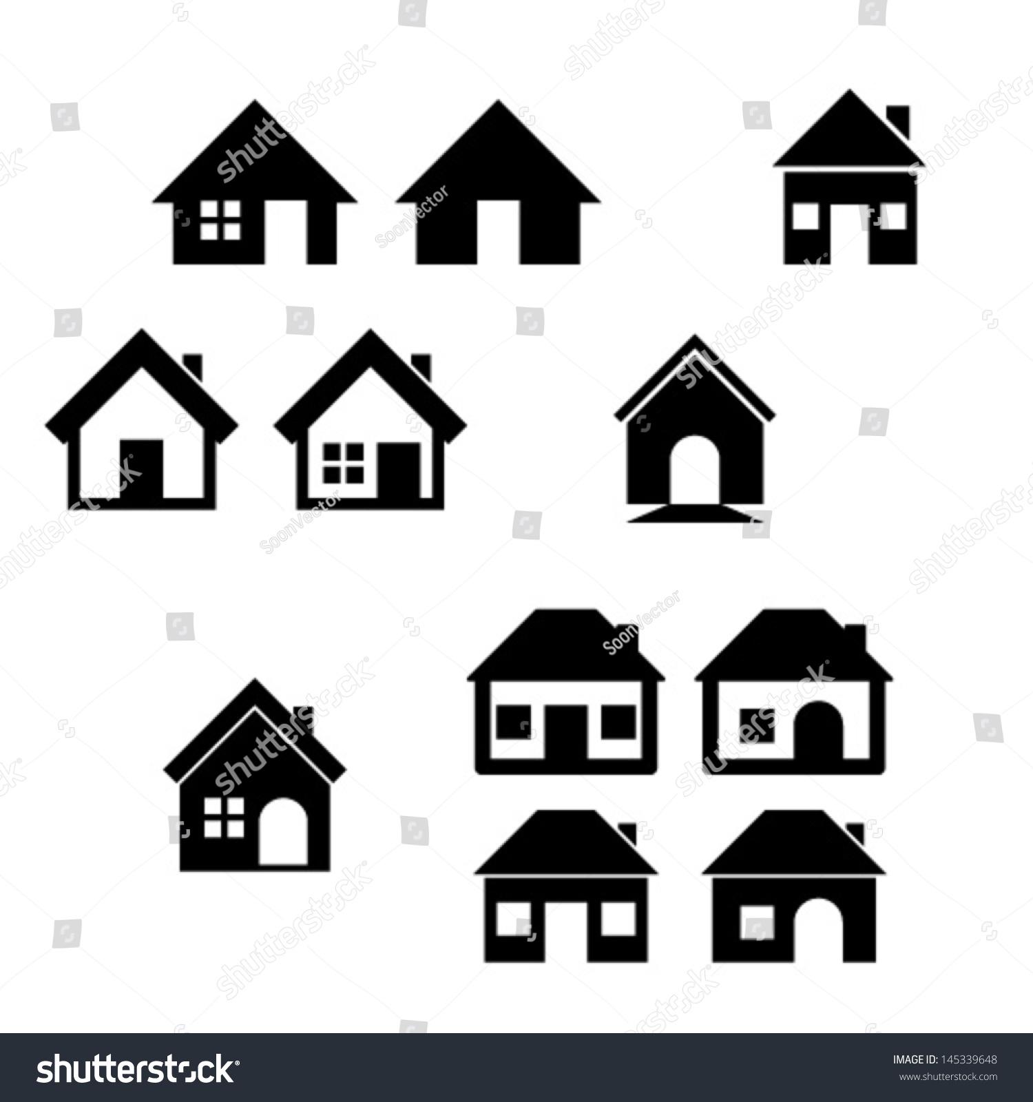 房子图标集.房地产.