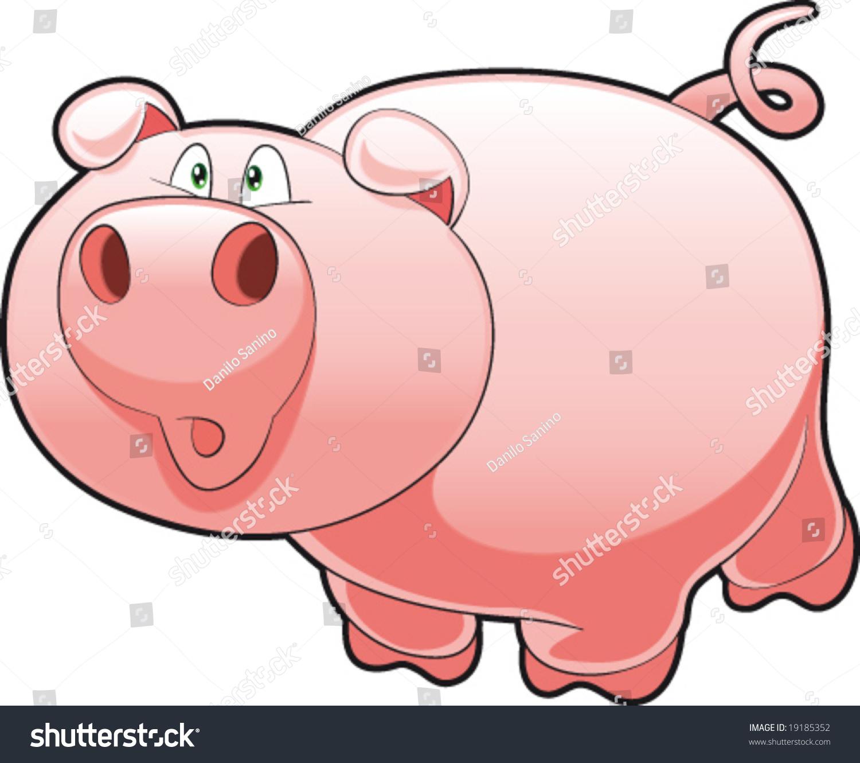 婴儿猪.有趣的卡通和矢量字符-动物/野生生物,插图/图