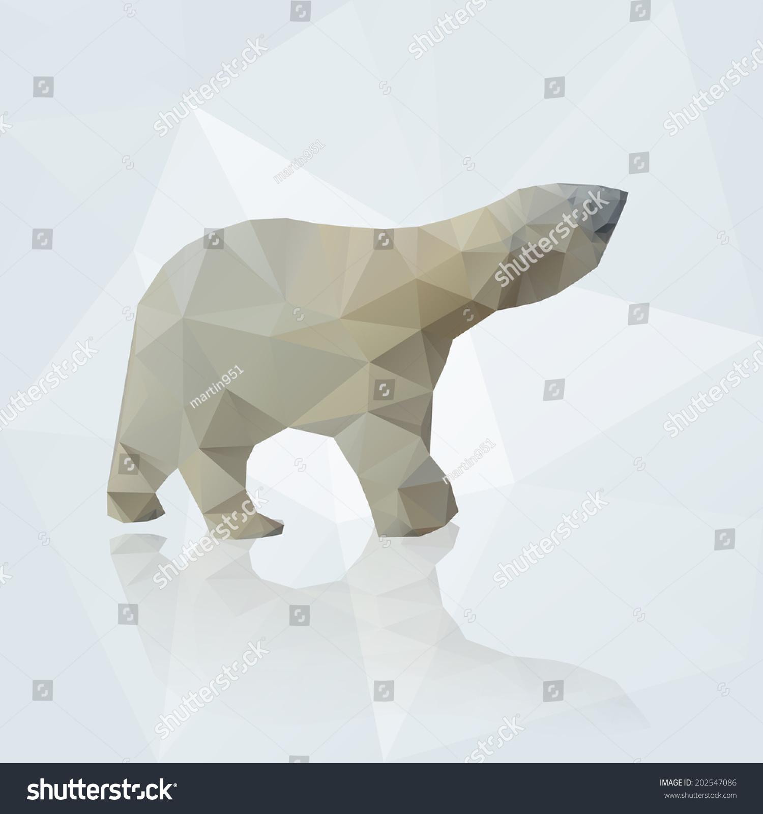 矢量三角形eps10北极熊-动物/野生生物