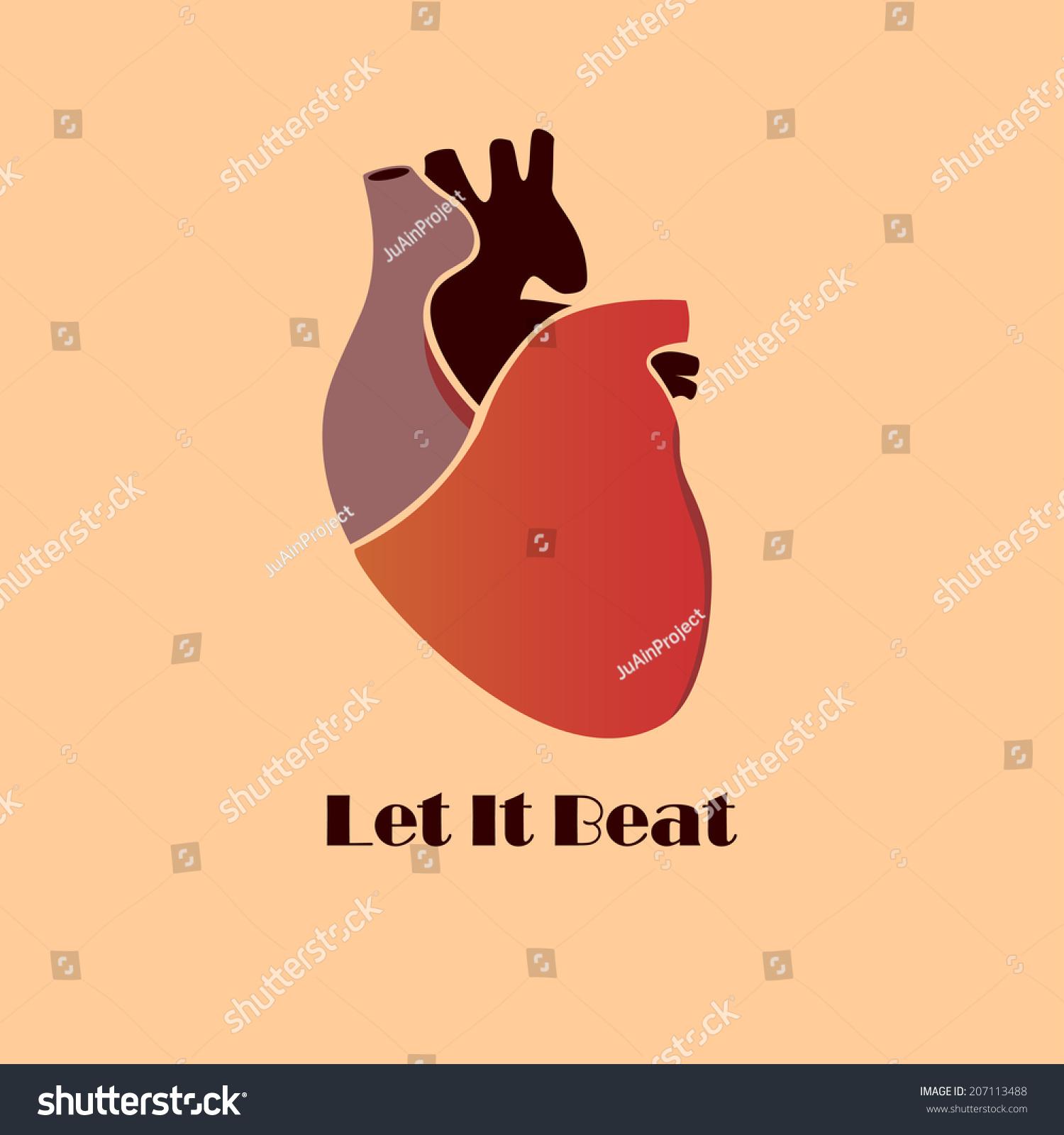 创意心脏海报手绘