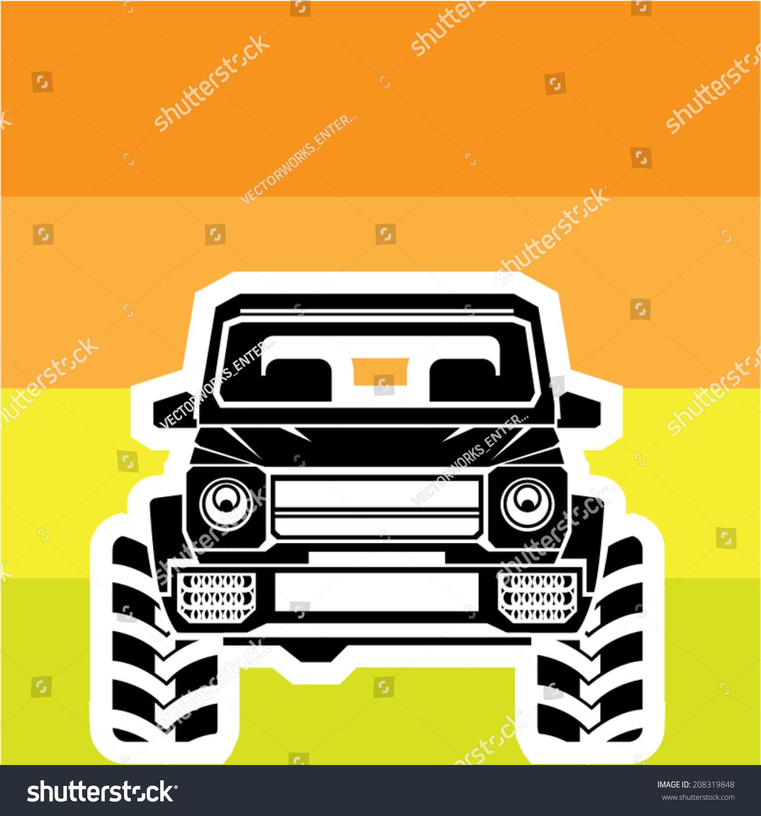 越野车前-交通运输,背景/素材-海洛创意(hellorf)--.