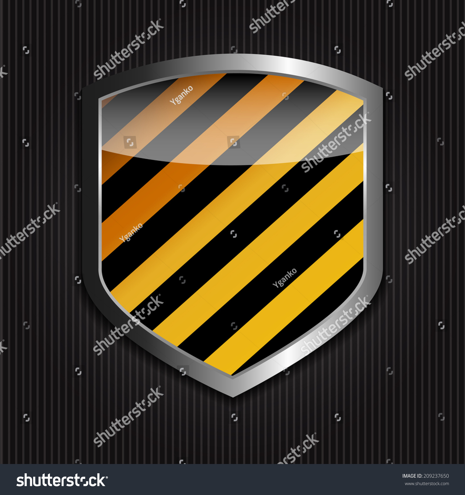 保护盾在黑色背景矢量图-商业/金融,符号/标志-海洛()