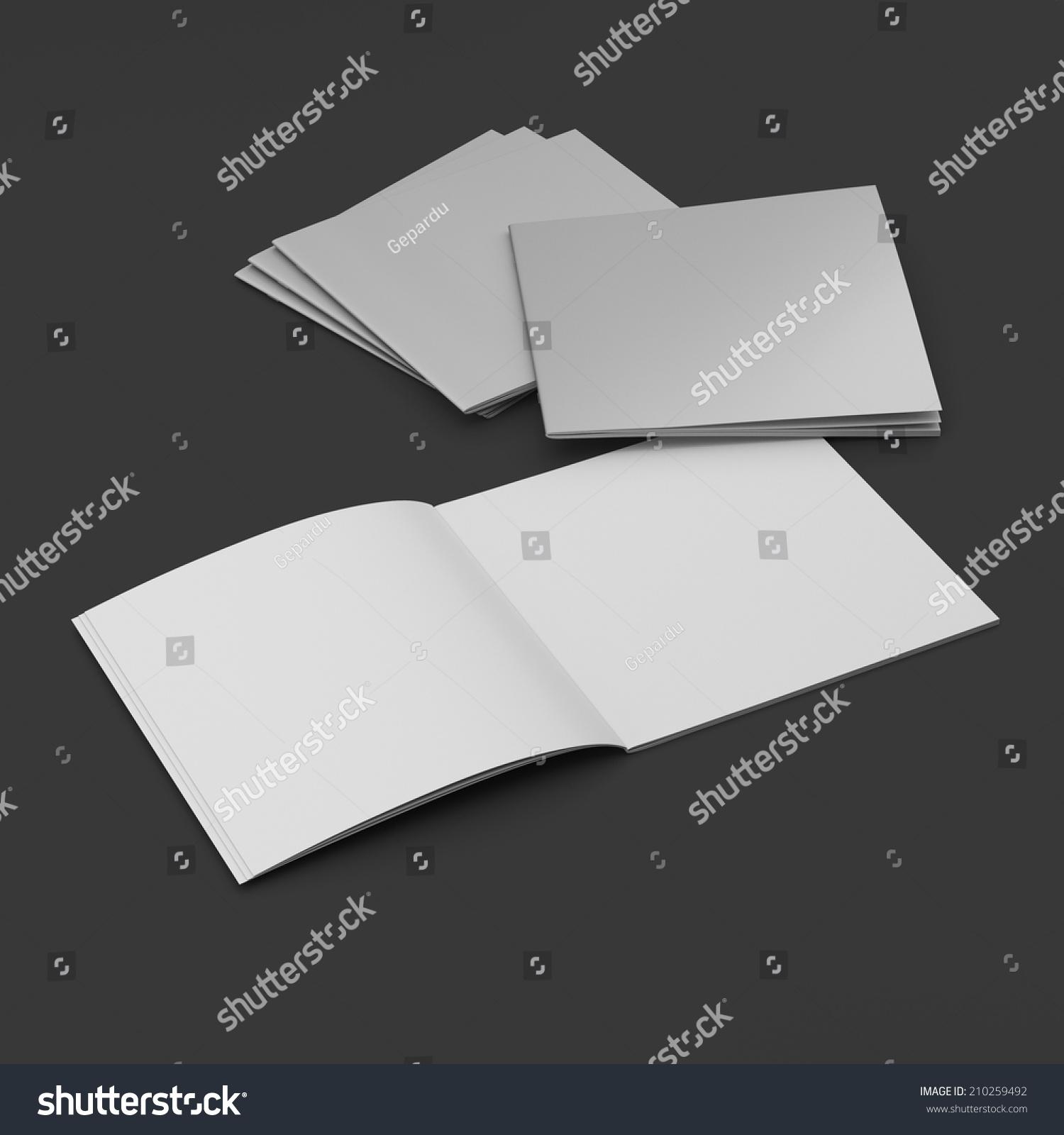 空白的正方形目录或杂志上的黑色