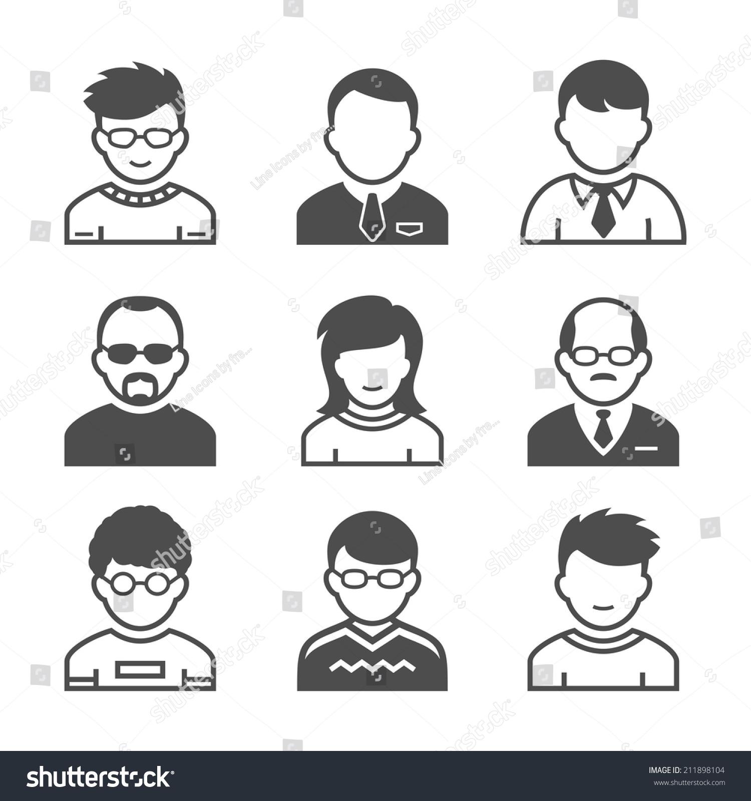 用户头像.职业和图标.矢量插图.simplus系列