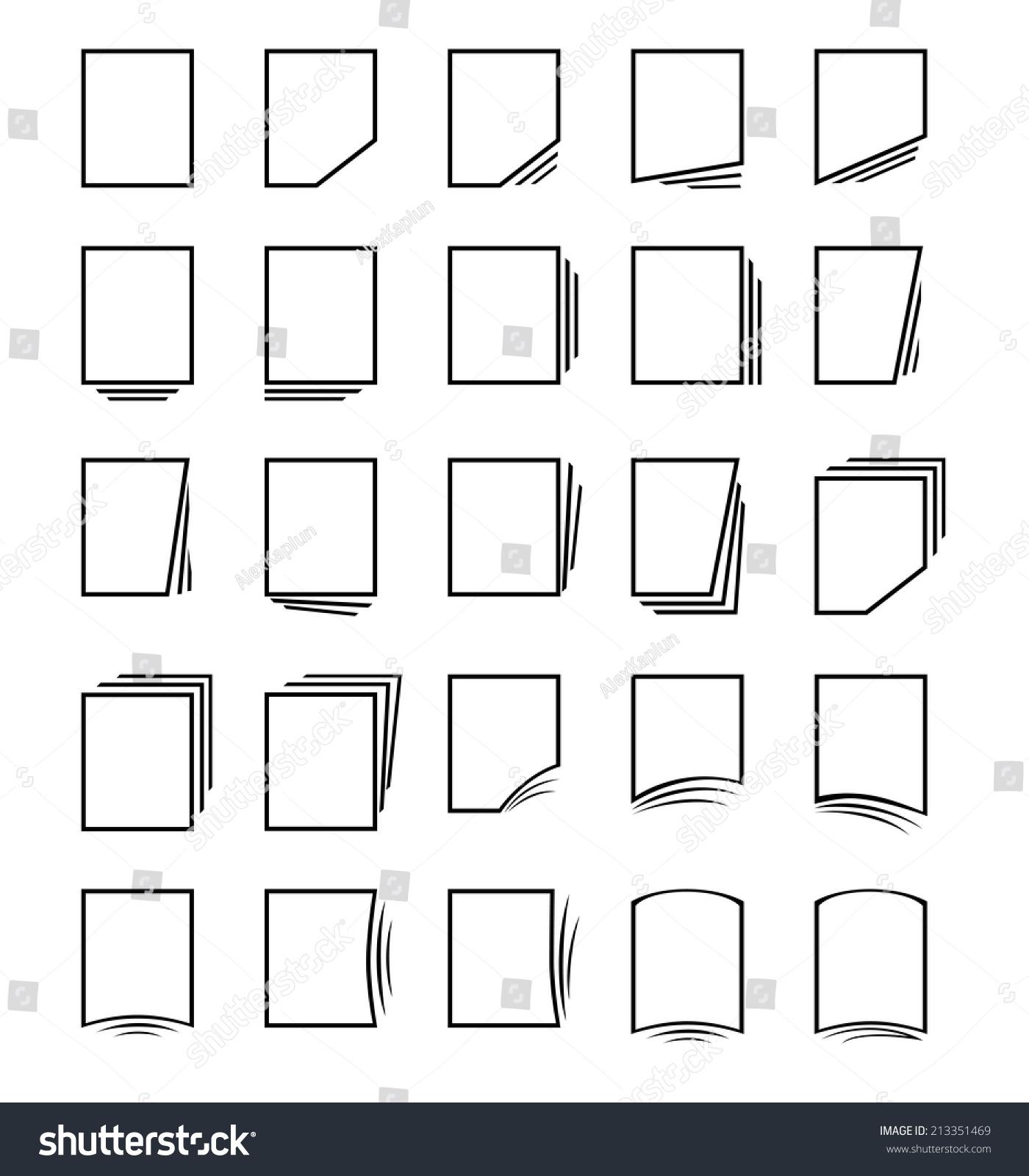 矢量图标集:页面和文件-背景/素材