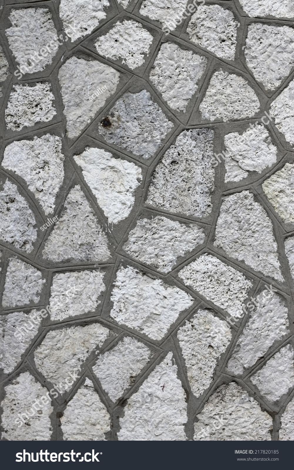 粗糙的灰色砖块变形表面-背景/素材