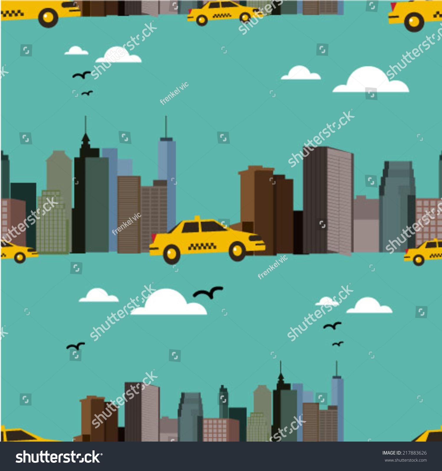 颜色的城市背景-建筑物/地标,背景/素材-海洛创意()-.
