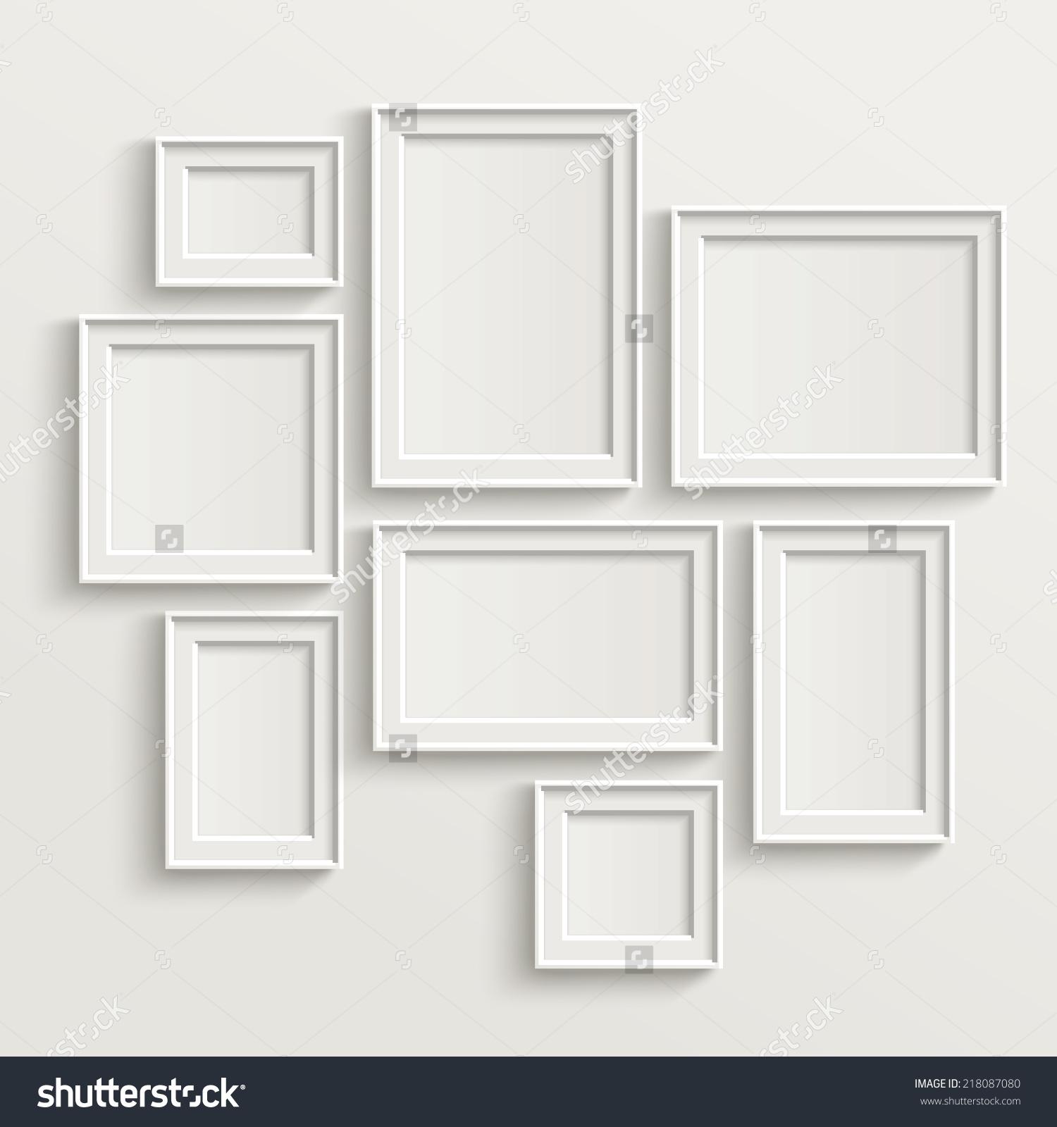 空白的相框模板设置隔离墙-背景/素材