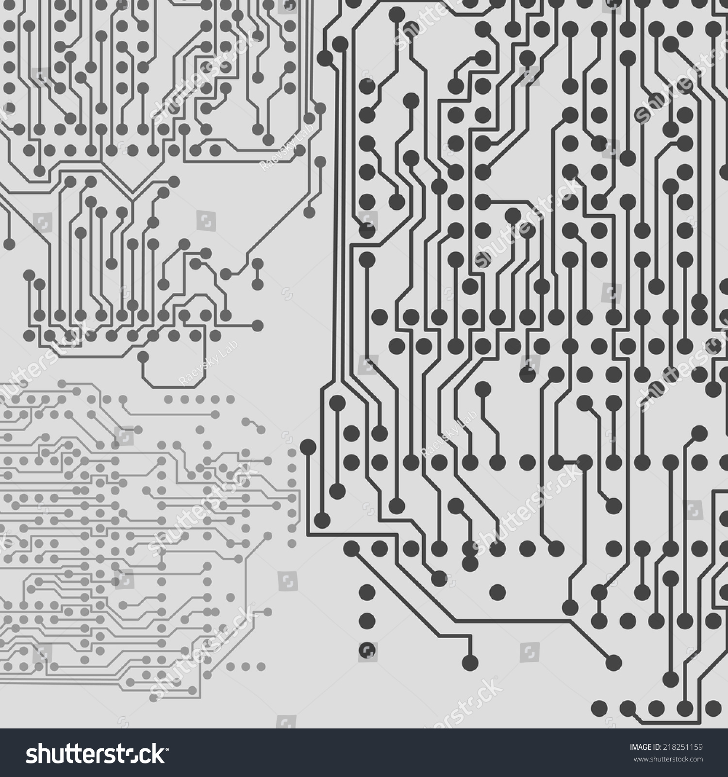 微芯片背景,电子电路,eps10矢量插图
