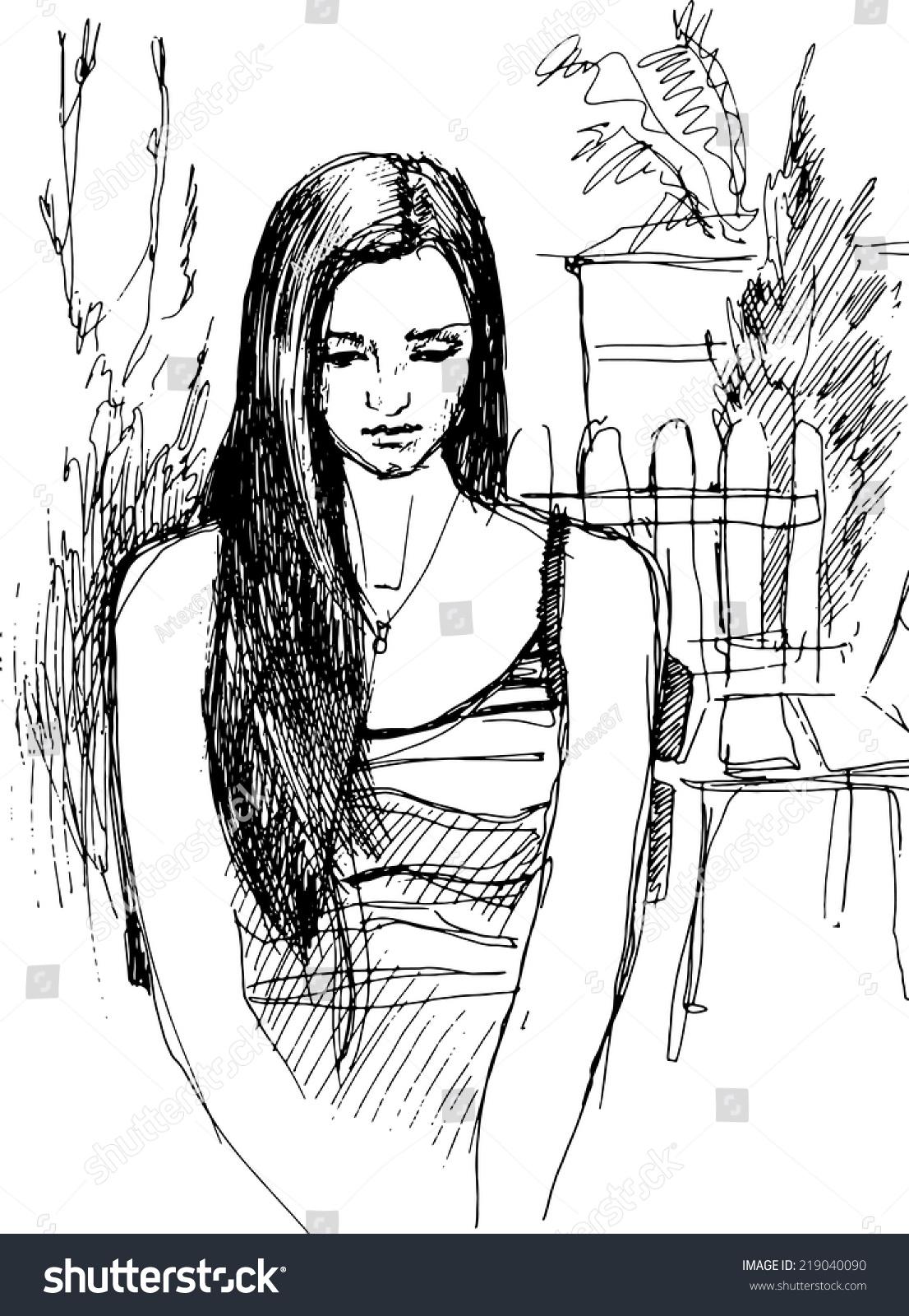 黑白配图简约手绘