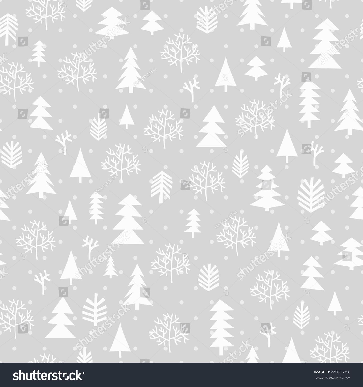 冬季森林背景.无缝模式为冬季和圣诞主题.矢量插图.