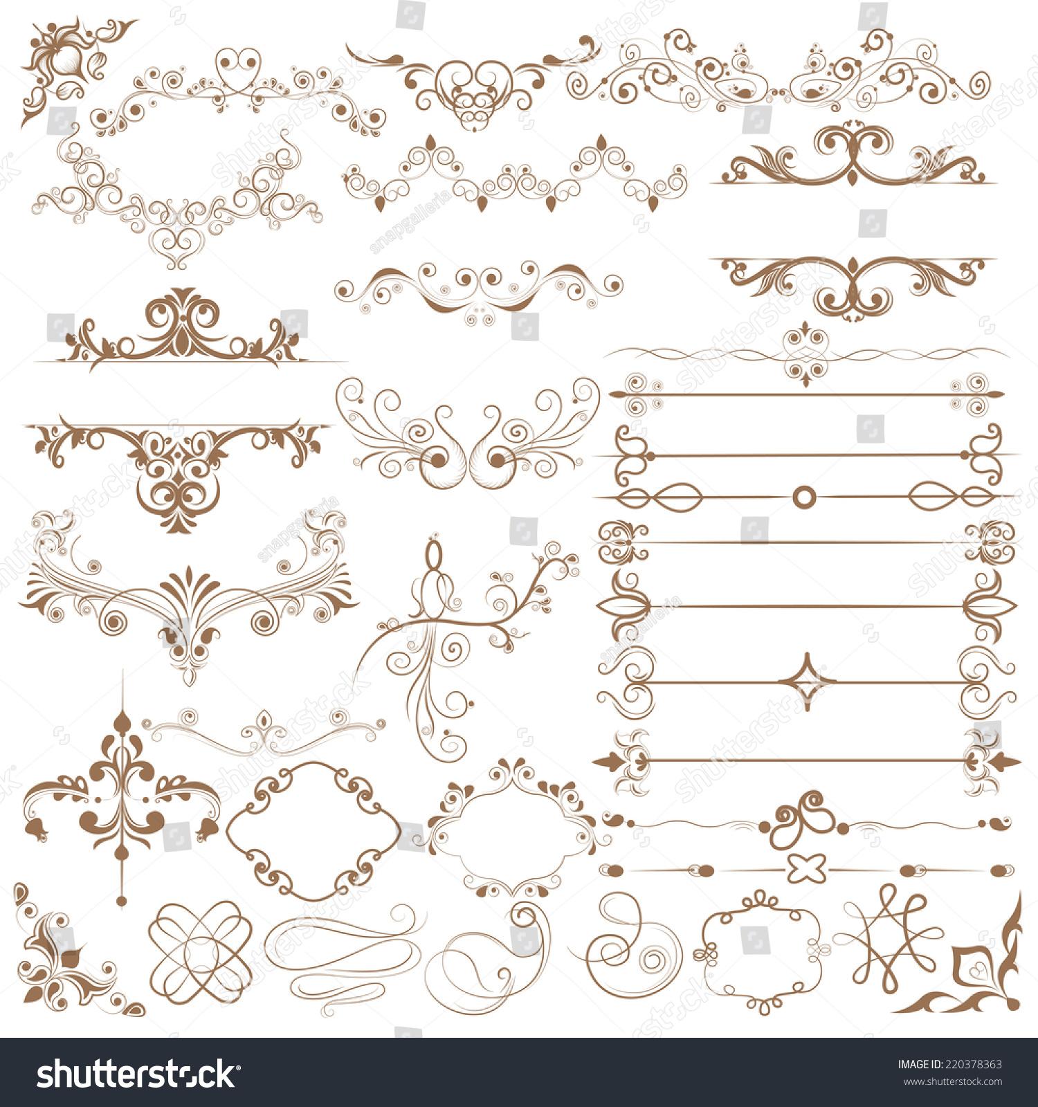 容易编辑花卉书法设计的矢量图-自然