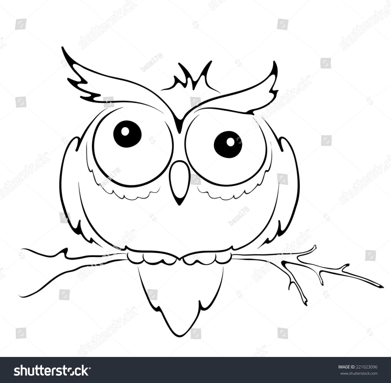 图形插图--有趣的猫头鹰-动物/野生生物,自然-海洛()