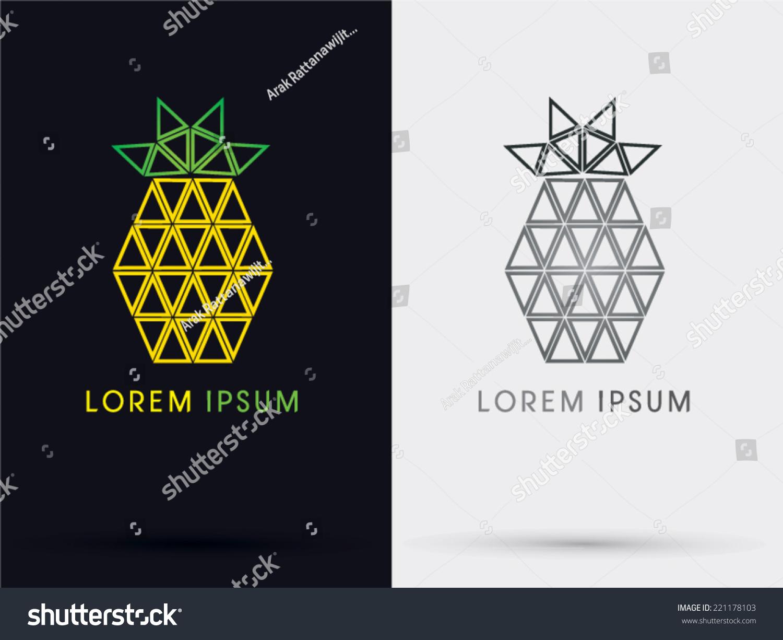 菠萝三角形抽象的标志