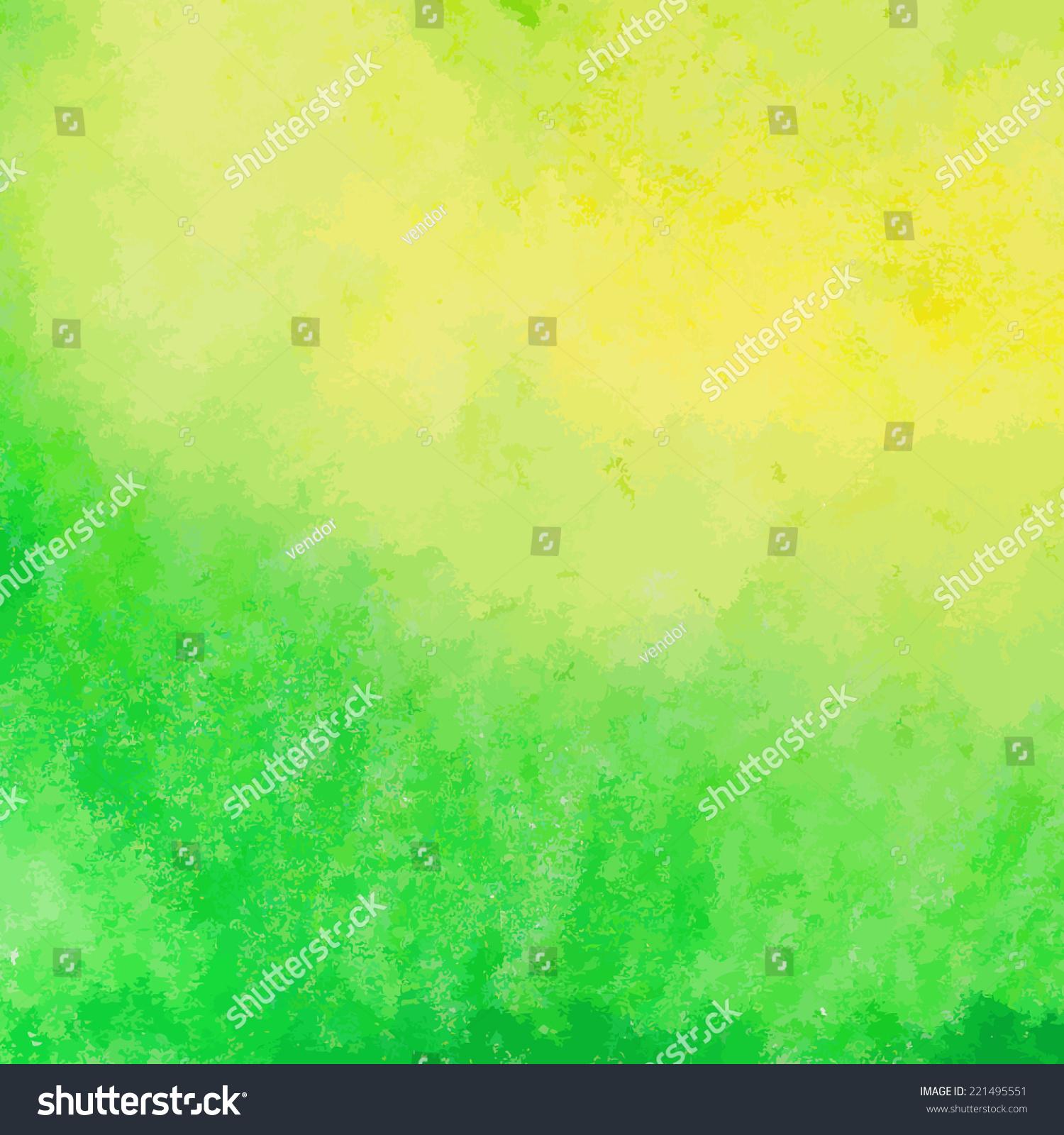 绿色和黄色水彩颜料矢量背景-背景/素材,艺术-海洛()
