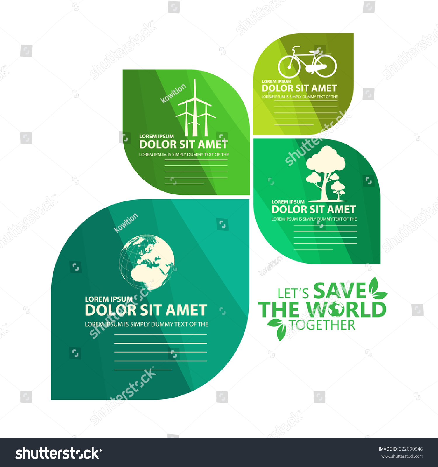 绿色信息图表-背景/素材