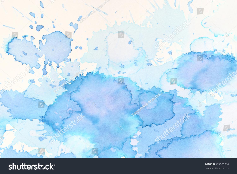蓝色水彩背景的纹理和背景-背景/素材