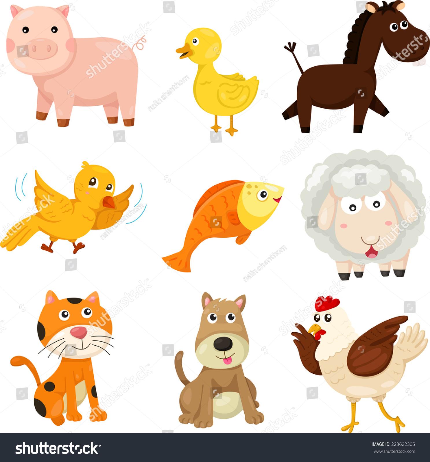 插画家的农场动物-动物/野生生物