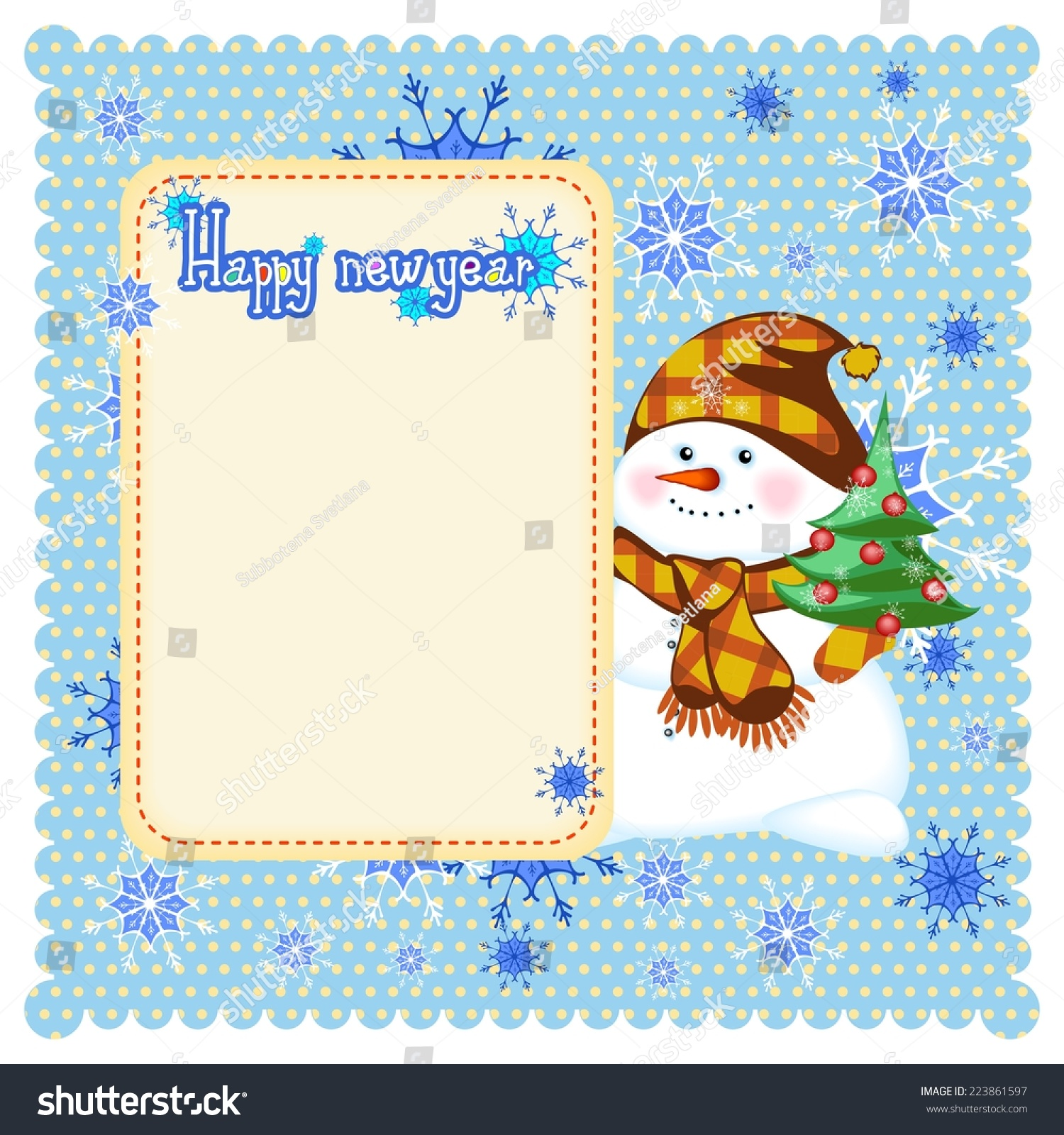 欢快的雪人祝您新年快乐-假期-海洛创意(hellorf)--.
