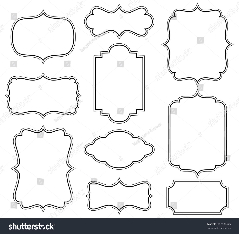 简单线条边框素材手绘