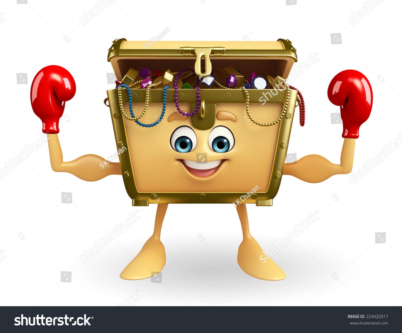 卡通人物拳击手套的宝盒