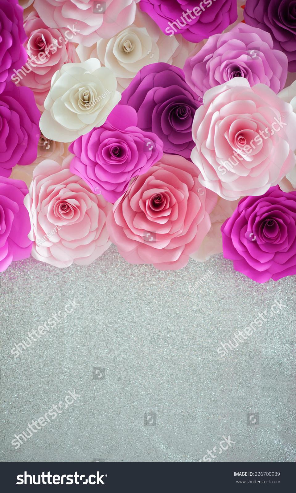 色彩鲜艳的玫瑰背景