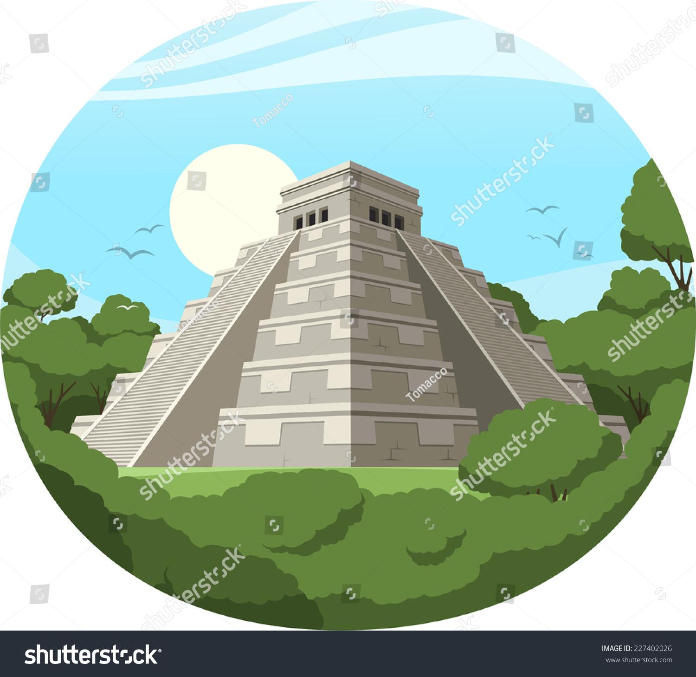 墨西哥玛雅金字塔老石头废墟