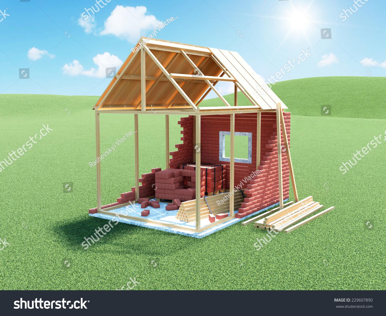 商务ppt 盖房子