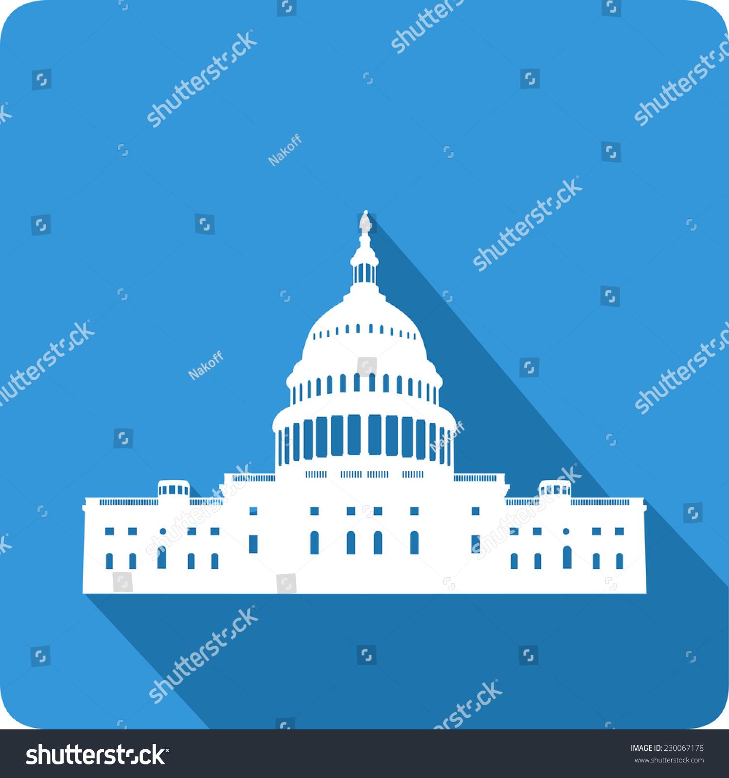 白宫,矢量插图-建筑物/地标-海洛创意(hellorf)-中国