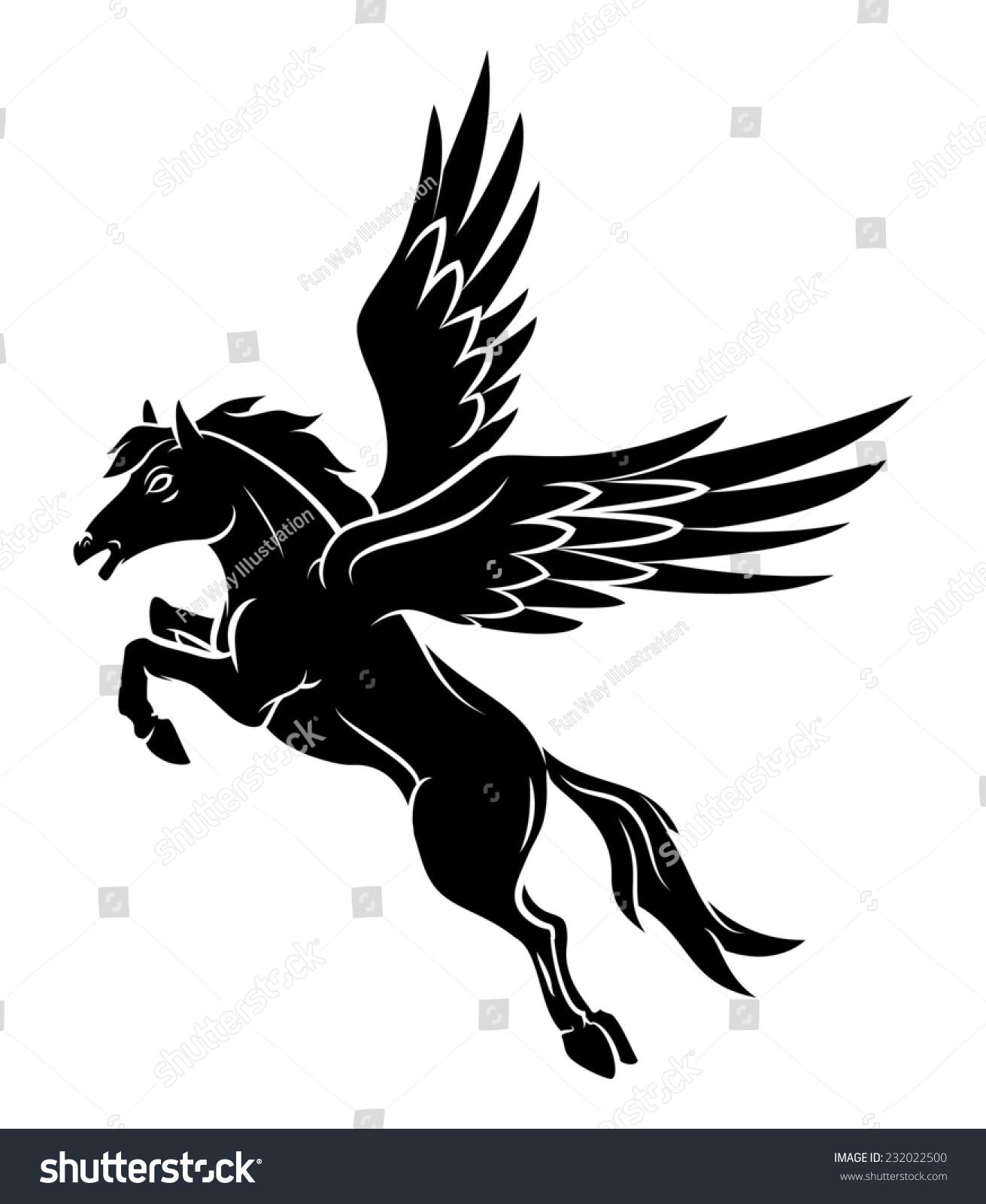 马翅膀纹身-动物/野生生物-海洛创意(hellorf)-中国