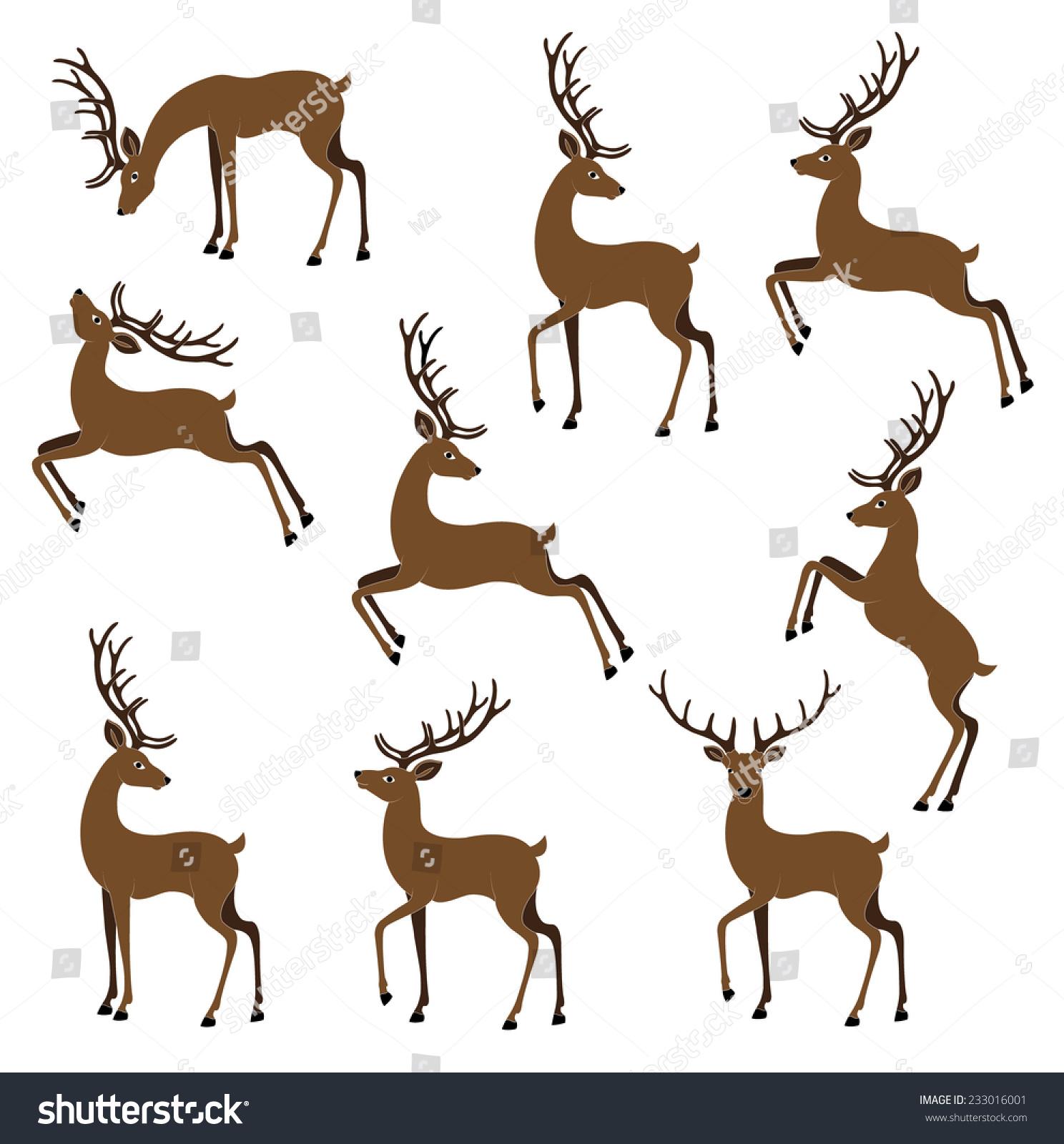 鹿色矢量图像-动物/野生生物,物体-海洛创意(hellorf)