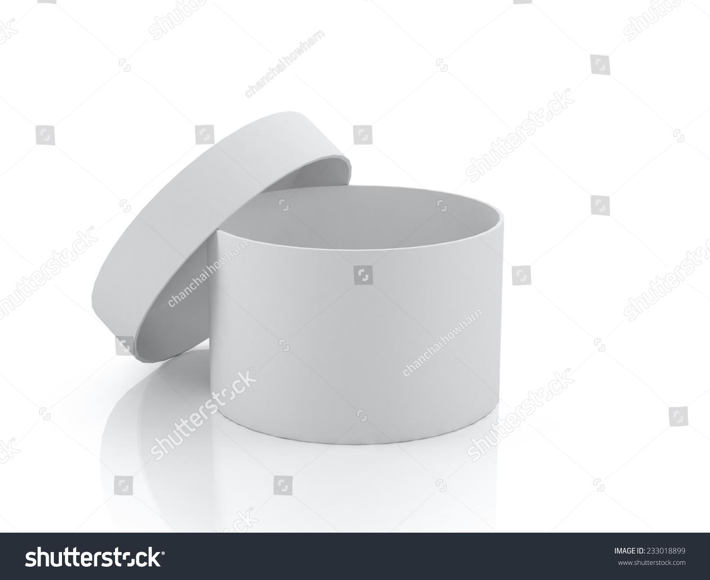 3 d的白色圆柱打开,盒子,包装设计