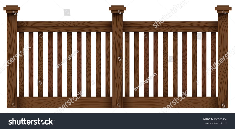 白色背景上的木栅栏模板-物体-海洛创意(hellorf)