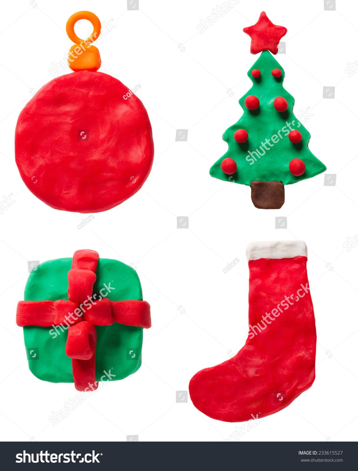 橡皮泥圣诞节设置-教育,物体-海洛创意(hellorf)-中国