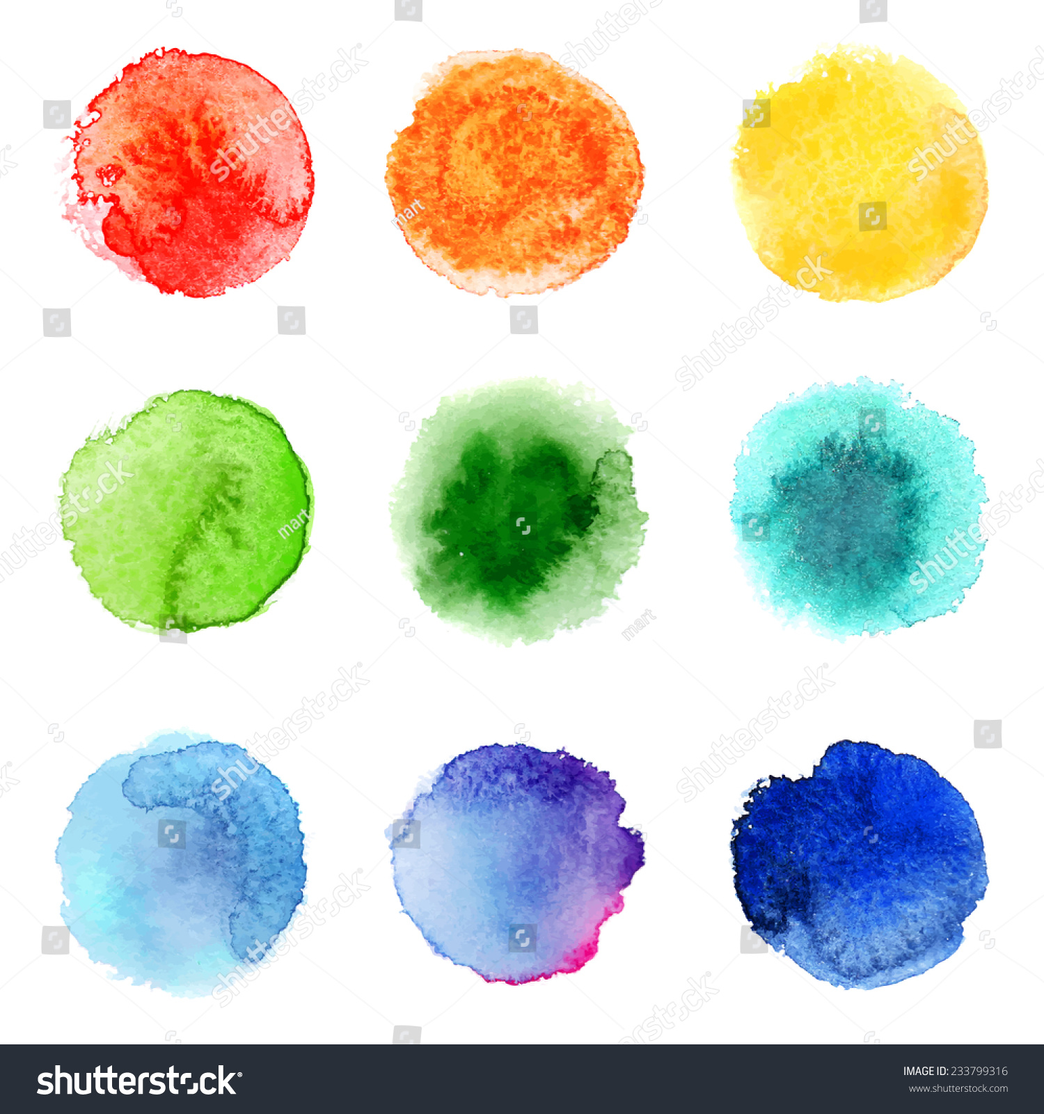 9轮手绘水彩样本