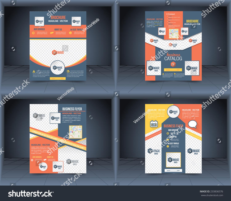 封面矢量设计模板集传单,商务小册子,目录-符号/标志